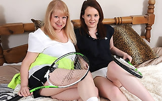 Horny lesbian mature teacher and her horny hot pupil