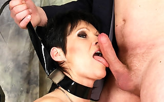 Kinky nympho gets a mouth full of cum