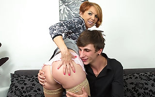 Hot MILF fucking and sucking her toyboy